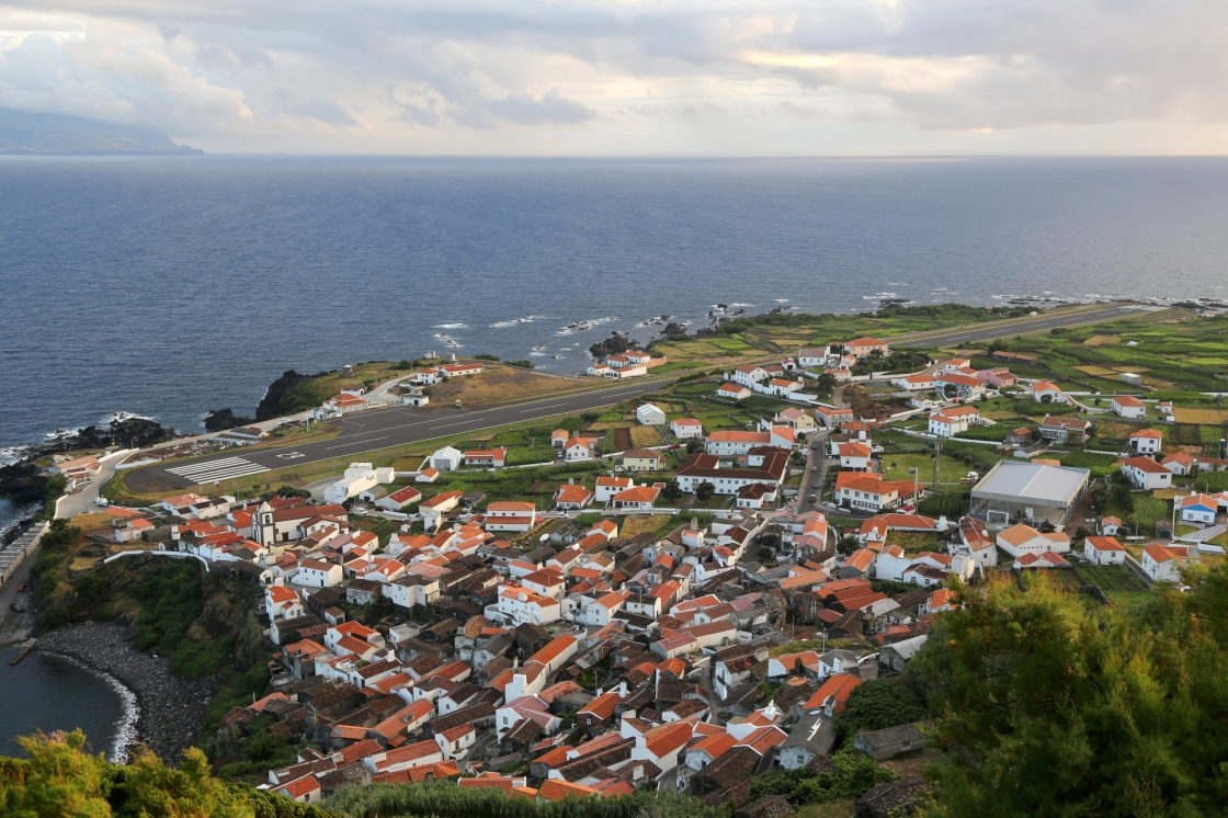 'Panorama of the island of Corvo Azores Portugal' - Azores