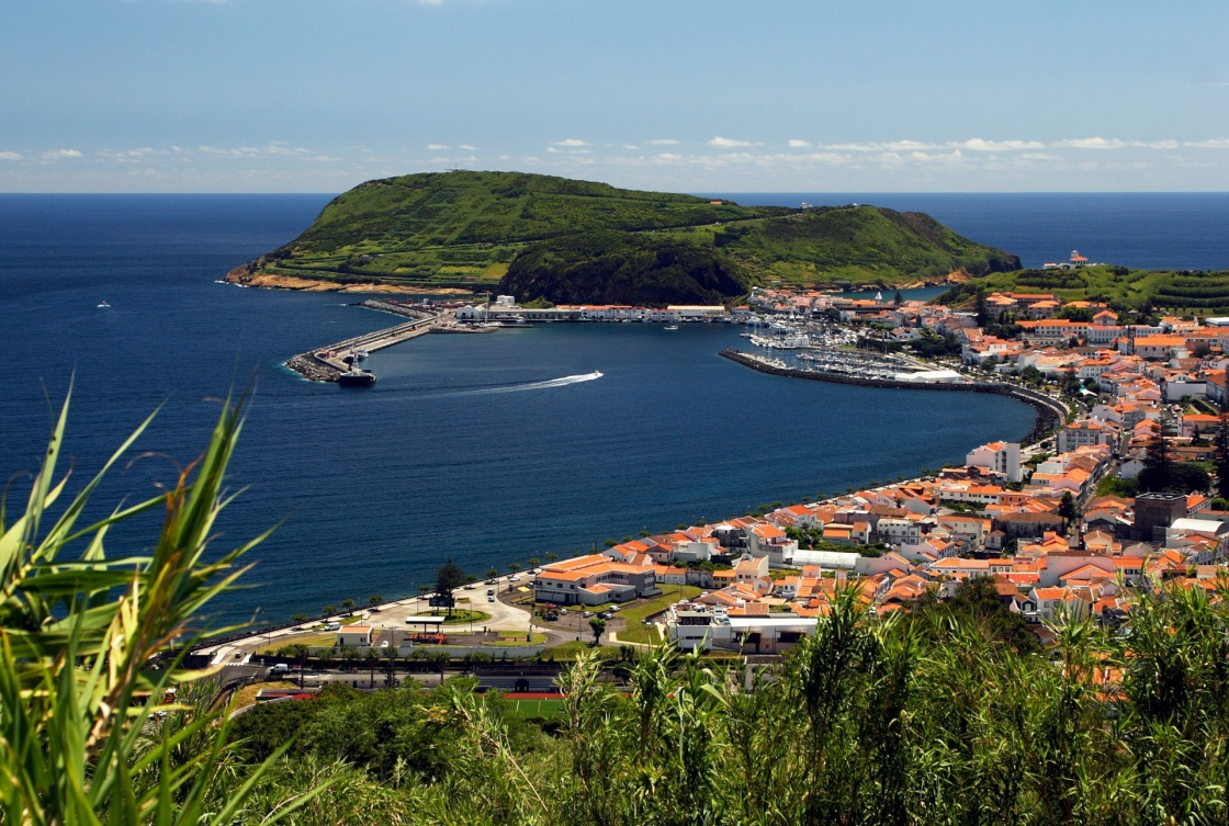 'View to port of Horta on Faial island' - Azores