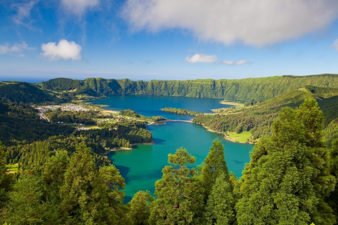 'A typical lake on the island of Azores in Portugal' - Azores
